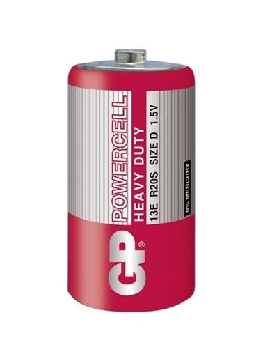 GP Gp Powercell 13E R20S D/R20 Çinko Karbon Büyük Boy D Pil 20'Li Renksiz